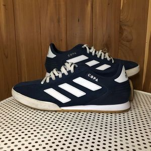 Blue Adidas Indoor Soccer Shoes